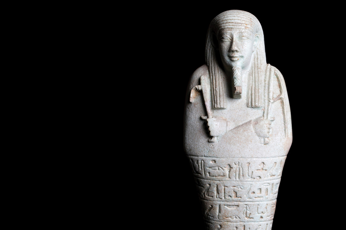 Shabti of Imhotep from Sigmund Freud's collection | collection photography | © Freud Museum London