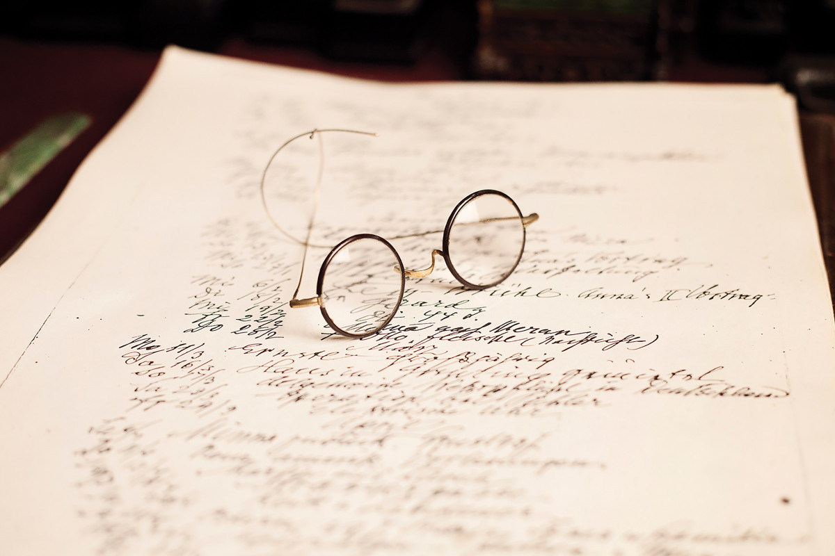 Sigmund Freud's spectacles Sigmund Freud's collection | in-situ collection photography | © Freud Museum Londo