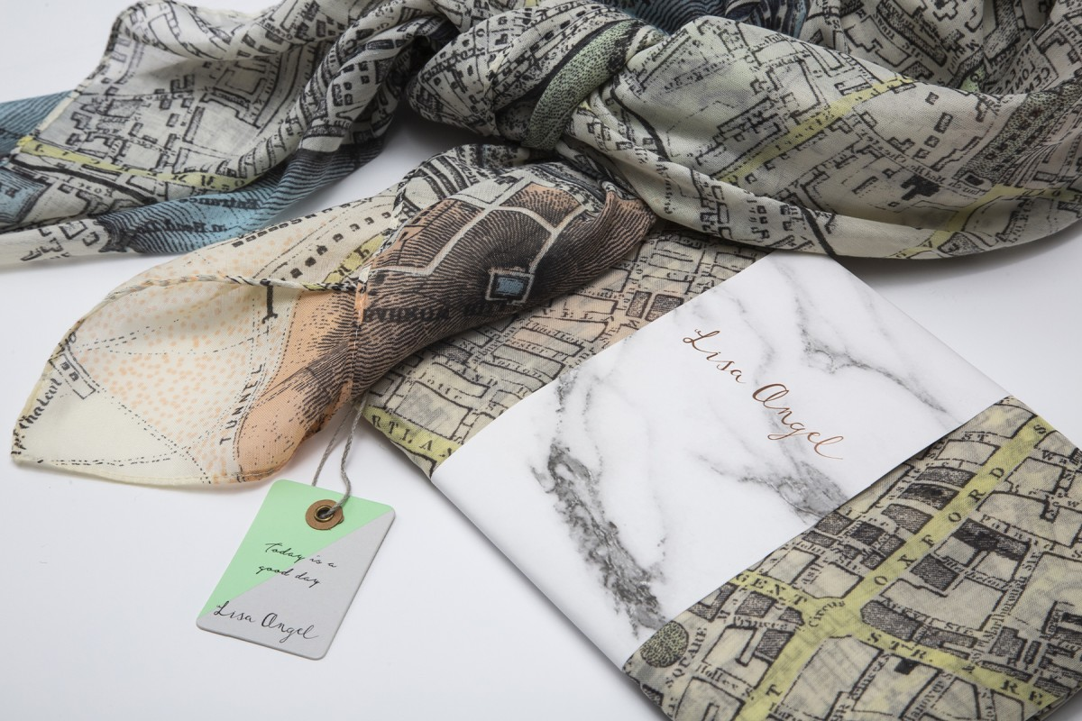 London Map Scarf by Lisa Angel | online shop photography | © The Foundling Museum, London