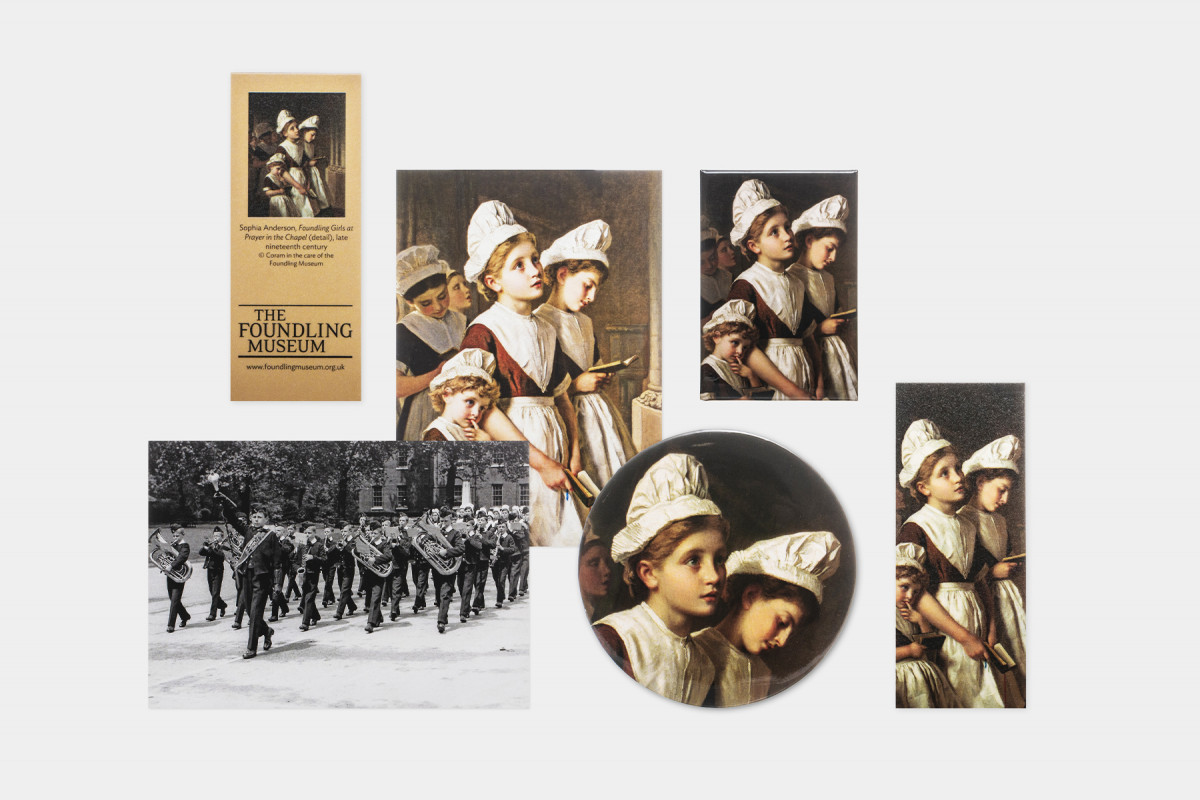 The Foundling Museum Collection-themed souvenirs & stationery | online shop photography | © The Foundling Museum, London