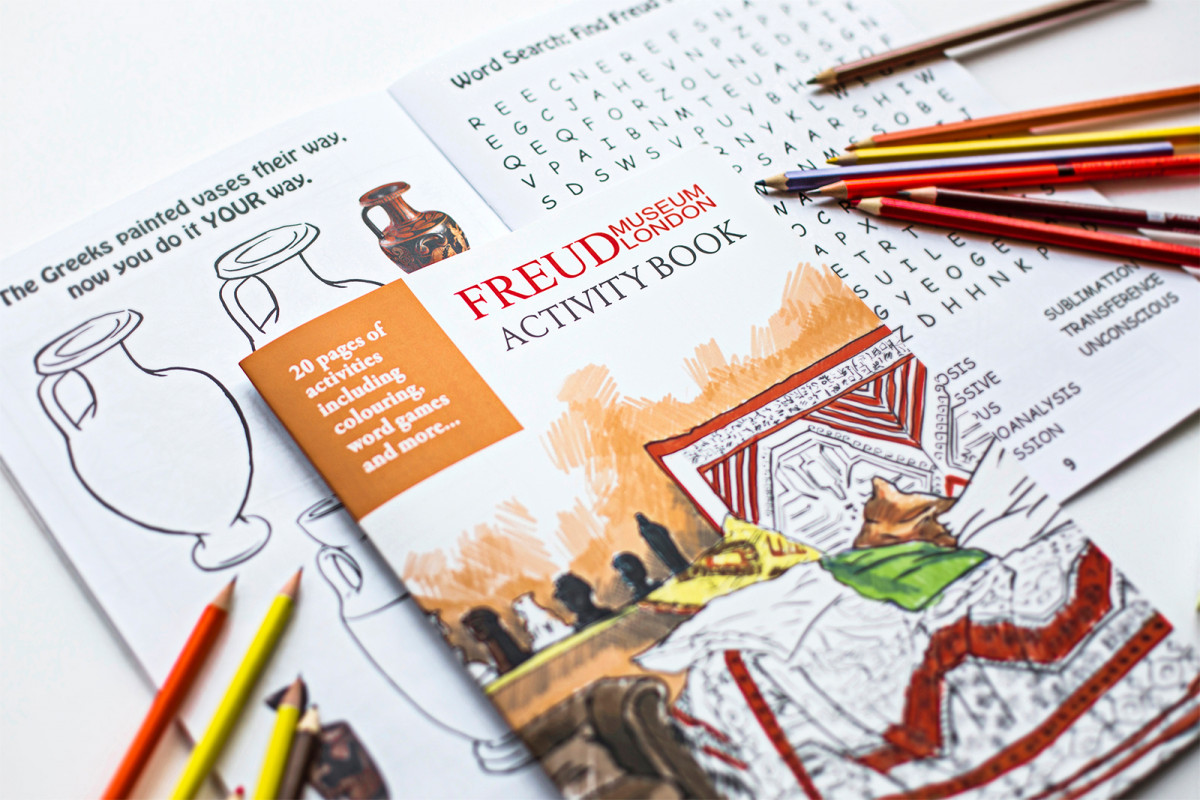 A selection of product photography created for the online shop & social media channels. Freud Museum London Activity Book. Exclusive to the freud Museum Shop