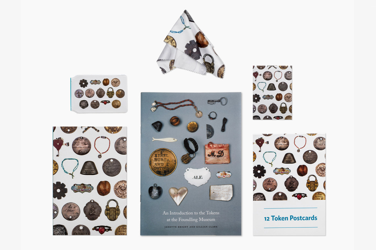 Token Collection-themed stationery | online shop photography | © The Foundling Museum, London