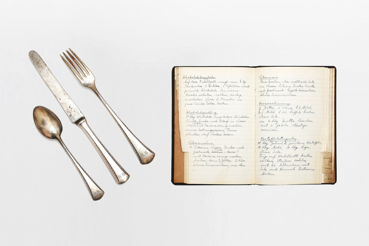 The Freud family silverware and recipe book | collection photography | © Freud Museum London
